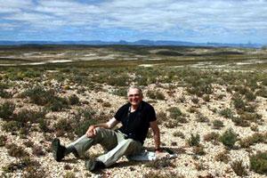 quartz gravel desert