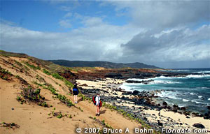 oceanside trail to Mo'omomi Dunes