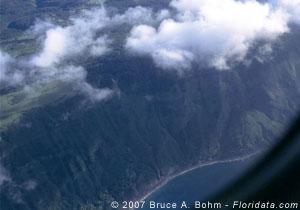 sea cliff on Molokai